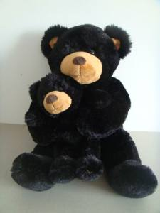 Plush-Mother-and-Baby-Black-Bear-Toy