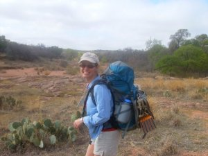 Backpacking with the Aura at Enchanted Rock in 2008