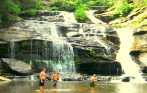 The Dirty Friend, Frodo, and Mr. Dirty at Panther Creek Falls