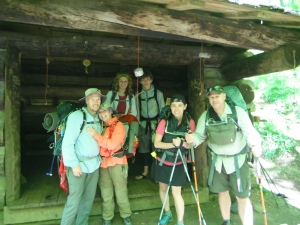 The Gang at Cable Gap Shelter